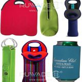 Neoprene wine beer bottle cooler holder tote,2 pack,6 pack,with handle or zipper,slap cooler koozie