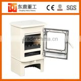 Direct salling ivory white enamel wood burning stove/wood stove/fireplace from Chinese factory HF905UBE