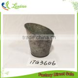 china allibaba com products shabby home & garden decoration printing metal half round flower pot