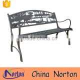 Outdoor furniture moose metal park bench for sale NTIRH-007Y