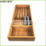 Bamboo Knife Block and Storage Holder for 5 Knife/Homex_FSC/BSCI Factory