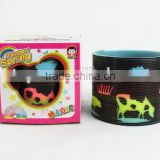 plastic magic rainbow spring toys with printed animals/hot sale rainbow circle