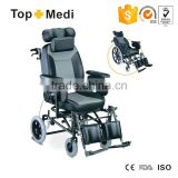 Rehabilitation Therapy Supplies Topmedi medical reclining disabled chair with adjustable legs