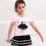 summer girls clothing sets OEM,baby clothes,baby clothing suits made in China girls tank top+short skirt