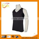 ISO 9001 Audit factory black plain mesh design gym vest