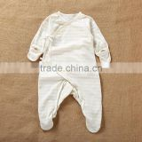 2017 Spring Long Sleeves Baby Infants Romper Stripe Pattern Natural Colored Cotton Bodysuit Jumpsuit Onesie Wear Clothes