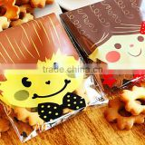 Biscuits Plastic Wholesale Fruit Puff Bread Girl Gift Lovely Cartoon of Baking Biscuit Bakery ziplock Packaging Gift Bag