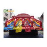 Jungle Animals PVC Tarpaulin Commercial Inflatable Slide for Water Pool In Summer 10x7x6m