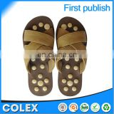 2015 Latest product high quality healthy care shoes,rubber slippers,massager shoes natural bamboo bead