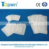 High quality comfortable white non-woven medical adhesive wound dressing of 70*50mm in bulk