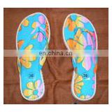 Printed cotton beach Slippers matching to pareo sarong