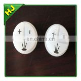 White silicone button cap with printing symbol