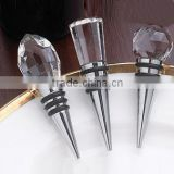 Crystal top metal bottle stopper bulk crystal wine stopper