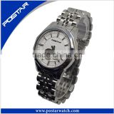 Fashion Mechancial Quality Assurance Wrist Watch with Stainless Steel Band