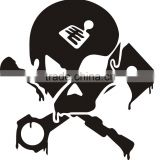 Skull car window light film sticker, removable window gel stickers,gel sticker winow glass stickers