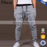 2015 OEM Brand Manufacturer High Quality New Fashion Drop Crotch Sweatpants For Men