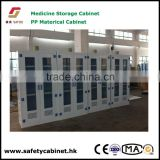 chemical Medicine utensils PP material Storage Cabinet with window