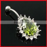 fashion belly body jewelry titanium piercing