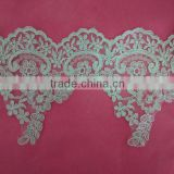 white bead wedding dress patch polyester bead lace embroidery applique lace patch                                                                         Quality Choice