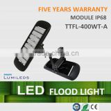 CE ROH approved, hangzhou factory, high power 400w led flood light with five years warranty