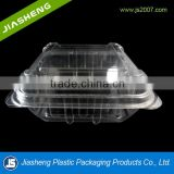 2015 cheap disposable transparent fruit packing box with square shape,plastic fruit container