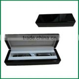 Luxury Wooden Pen Box, Custom Black Lacquer MDF Pen Packaging Box With Logo Printing For 1 or 2 pen