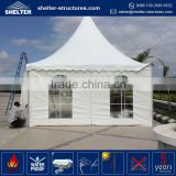 Top selling PVC fabric coated green color big wedding hard case tent with glass wall or transparent windows gazebo