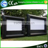 Best selling PVC outdoor air screen inflatable projector screens inflatable movie screen for sale