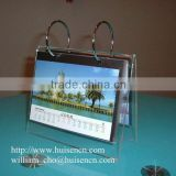 Transparent acrylic desktop calendar stand for 2015