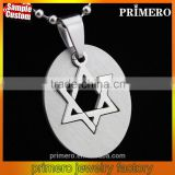 Men Movie Jewelry Top Quality Stainless Steel Star of David Silver Men Hexagram Pendant Necklace