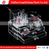 2016 Newest Taizhou Longshixiang factory fashional PS makeup boxes transparent cosmetic organizer