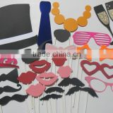 26 PHOTO BOOTH PROPS Fake MOUSTACHE/LIPS ON A STICK WEDDINGS MU063