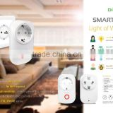 wireless smart plug for home alarm system use controlled by iOS/Andorid App