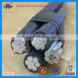 NO.3459- 11kV 33kv 4 core cable aluminium XLPE insulated overhead abc aerial bundled cable manufacturer