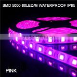 SMD 5050 60LED/METER PINK LED FLEXIBLE STRIP TAPE LIGHT DC 12 VOLTS WATERPROOF IP65 14.4W/M 900LM/M STRIPE CE/ROHS NEW