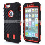 Super new popular heavy duty rugged tough hard tyre defender Silicone rubber PC robot armor wholesale case for iPhone 6 Plus