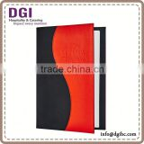 New fashion restaurant menu folder/ table menu folder / leather advertising stand /clip board