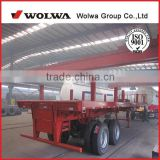 customizable tri-axle 20ft 40ft flatbed cargo container semi trailer for transportation of containers