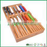 popular bamboo kitchen decoration wooden bamboo knife blocks                                                                                                         Supplier's Choice