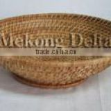 Woven Bamboo and Rattan Fruit Basket Brown Color
