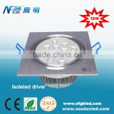 High power leds dimmable led ceiling light 12w ceiling panel light China low profile led ceiling light