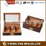 High Grade Quality Temperature Controlled Wooden Cigar Humidor for Sale