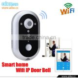 2016 New Wireless Doorbell Smart Video WiFi Door Bell IP Intercom Interfone Camera Smartphone Video Unlock Alarm With Android IS