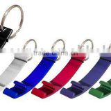 Hot Sale Mini Cheap Aluminum Super Portable Pocket Colorful Shaped Lock Carabiner Keychain with Bottle Opener for promotion