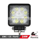 24 W light LED work light for Constuction machinery,truck,tractor and heavy-duty equipment