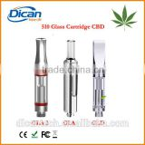 Leak Proof 510 thread cbd tank glass vape cartridge with round metal tip 280mah open battery buttonless USA Widely use