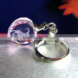 Wholesale Promotion Custom Logo Heart Shape Flashing Led Crystal Keychain/key rings/keyholder