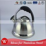 Easy to clean non electric coffee water tea pot induction stainless steel kettle