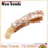 Wholesale luxury Korean fancy rhinestone banana clip large crystal hair clip