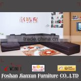 H1013 European french genuine leather u shaped sectional sofa